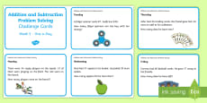 Addition and Subtraction Problem Solving (3) Challenge Cards