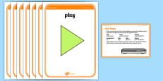 Foundation PE (Reception) DVD Player Warm-Up Activity Card