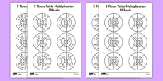 3 Times Table Multiplication Wheels Activity Sheet Pack