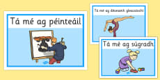 Gaeilge Action Words A4 Posters
