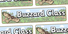 Buzzard Themed Classroom Display Banner