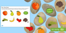 Fruit and Vegetable Story Stones Image Cut-Outs