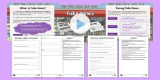 * NEW * KS2 What Is Fake News? Resource Pack