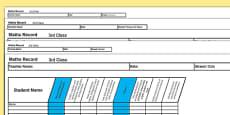 3rd Class Maths Record Spreadsheet