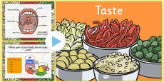 Science Senses 5 Tastes PowerPoint