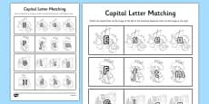 Beatrix Potter - The Tale of Benjamin Bunny Themed Capital Letter Matching Activity Sheet