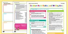 Outdoor Writing and Mark Making Area Continuous Provision Plan Posters Reception FS2