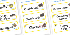Bee Themed Editable Additional Classroom Resource Labels