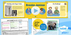 PlanIt - Art KS1 - Let's Sculpt Lesson 5: Brendan Jamison Lesson Pack