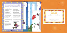 Matching Mats Busy Bag Prompt Card and Resource Pack to Support Teaching on Room on the Broom