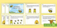 Year 2 Bee Themed Differentiated Fractions Challenge Cards