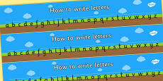 How to Write Letters Writing Aids (Ground, Sky and Grass)