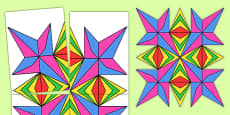 Large Cut-Out Rangoli Pattern Template