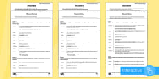 * NEW * KS2 Palm Sunday Play Script Differentiated Comprehension Go Respond Activity Sheets