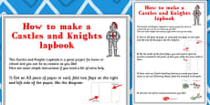 Castles and Knights Lapbook Instructions Sheet