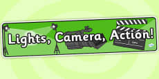 Lights Camera Action Role Play Banner
