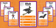Halloween Character Card Game Romanian Translation
