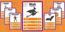 Halloween Character Card Game Romanian Translation