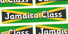 Jamaica Themed Classroom Display Banner