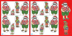 Australia - Number Bonds to 30 Matching Activity on Santa and Elves