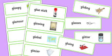 Two Syllable GL Word Cards