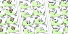 Dinosaur Themed Editable Book Labels