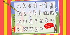 Circus Themed Letter Writing Activity Sheet