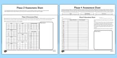 Phase 2 to 5 Phonics Letters and Sounds Assessment Pack