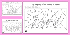 New Zealand High Frequency Words Colouring Activity Sheets