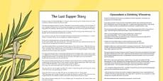 The Last Supper Story Sheet Polish Translation
