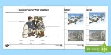 Second World War Children Activity Sheet