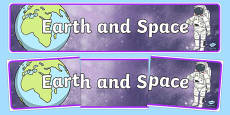 Earth and Space Display Banner