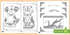 Pets Mindfulness Colouring Sheets