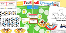 One More Than EYFS Football Board Game