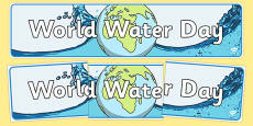 World Water Day Display Banner