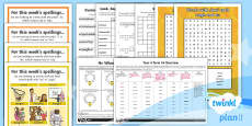 PlanIt Y4 Term 1A Bumper Spelling Pack