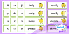 PlanIt English Additional Resources Year 3 Term 1B Word Cards