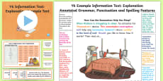 * NEW * Y6 Information Texts: Explanation Model/Example Text