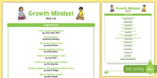 Growth Mindset Book List USA