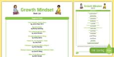Growth Mindset Book List USA