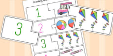 Seaside Themed Counting Matching Puzzle