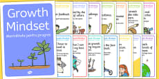 Growth Mind-set Statement Posters Romanian Translation