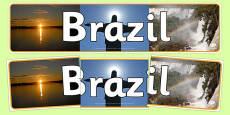 Brazil Photo Display Banner