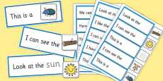 Complete the High Frequency Sentence Using CVC Words