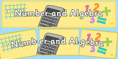 Number and Algebra Display Banner NZ