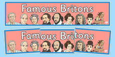 Famous Britons Display Banner