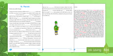 Saint Patrick Third and Fourth Class Reading Comprehension Activity