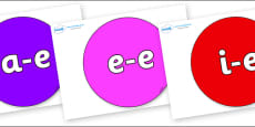 Modifying E Letters on Circles