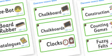 Beaver Themed Editable Additional Classroom Resource Labels