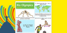 Rio Olympics Fact File Sheets